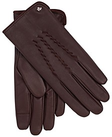 Leather Whipstitch Touch Gloves