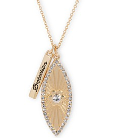 "Gold-Tone Crystal Evil Eye Protection 32"" Double Pendant Necklace"
