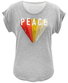 Plus Size Peace-Graphic Top, Created for Macy's