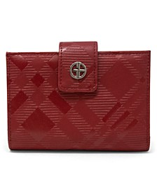 Framed Indexer Embossed Plaid Wallet, Created for Macy's