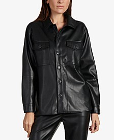 Faux-Leather Shirt