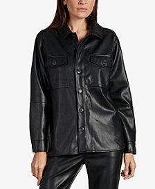 Sanctuary Faux-Leather Shirt