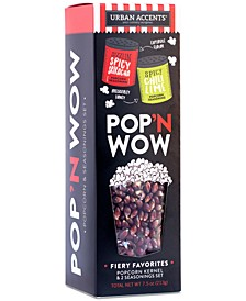 POP 'N WOW Fiery Favorites Gourmet Popcorn Gift Set