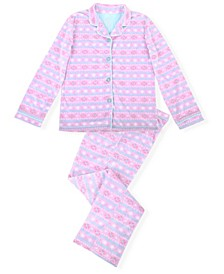 Big Girls 2 Piece Fair Isle Pajama Set