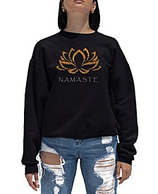 Women's Word Art Crewneck Namaste Sweatshirt