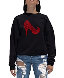 Women's Word Art Crewneck High Heel Sweatshirt