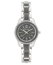 Gray Enamel and Silver-Tone Bracelet Watch 30mm