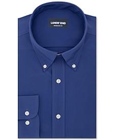 Lands' End Men's The Ultimate Commuter Classic/Regular-Fit Non-Iron Performance Tech Solid Dress Shirt