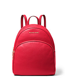 MICHAEL Michael Kors Abbey Medium Leather Backpack