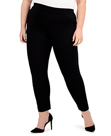 Plus Size Cropped Pull-On Pants