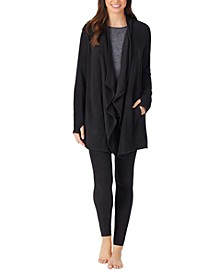 Fleece Open-Front Loungewear Wrap