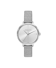 Women's Charley Silver Leather Watch 38mm