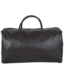 """20"""" Pebbled Vegan Leather Carry-On Travel Duffle Bag"""