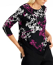 Printed Woven-Hem Top, Created for Macy's