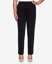 Women's Plus Size Knightsbridge Station Ponte Slim Proportioned Medium Pant