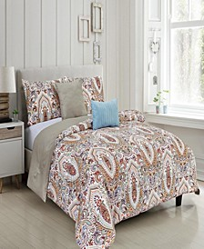 Felicity Reversible King Comforter Set, Piece