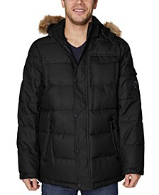 Men's Big and Tall Hooded Parka Jacket