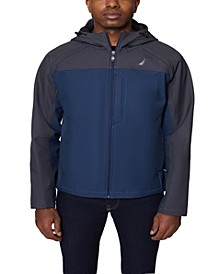 Men's Colorblock Softshell with Hood Jacket