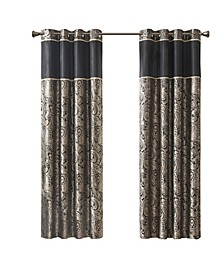 "Aubrey Jacquard Total Blackout Curtain Panel, 50"" W x 84"" L"