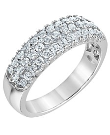 Diamond Pave Band Ring (1 ct. t.w.) in 14K White Gold
