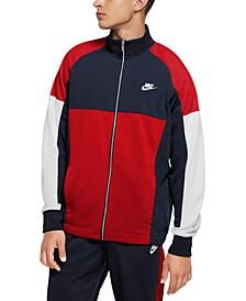 Men's Standard-Fit Colorblocked Track Jacket