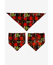 Matching Pet Grinch Family Pajamas Fleece Bandanna