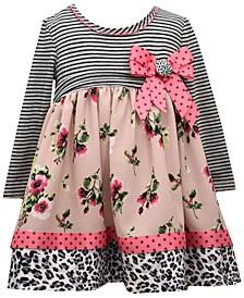 Baby Girls Mixed-Media Babydoll Dress