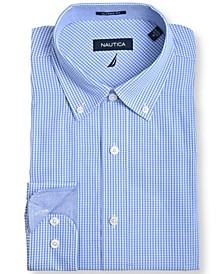 Men's Slim Fit Plaid Dress Shirt