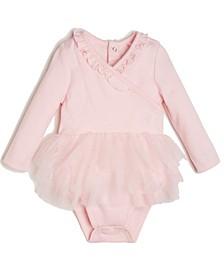 Baby Girls Bodysuit with Mesh Skirt