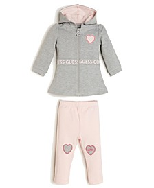 Baby Girls French Terry Hoodie and Legging Set