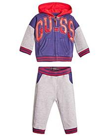 Baby Boys Active Long Sleeve Zip Hoodie & Joggers Set