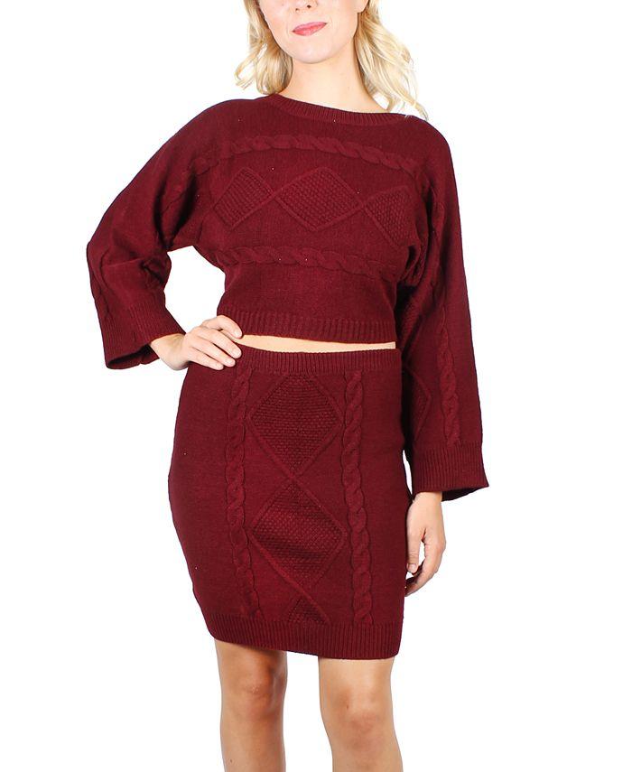 Crystal Doll - Juniors' Bell-Sleeve Sweater Set