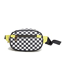 Checkered Capsule Fanny Pack