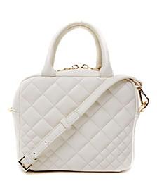 Snakeskin Boxy Treasure Box Handle Bag