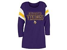 Minnesota Vikings Women's Sleeve Stripe Three Quarter Raglan T-Shirt