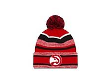 Atlanta Hawks Striped Marled Knit Hat