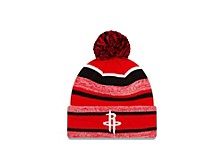 Houston Rockets Striped Marled Knit Hat