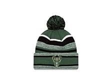 Milwaukee Bucks Striped Marled Knit Hat