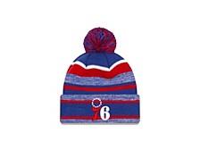 Philadelphia 76ers Striped Marled Knit Hat