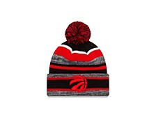 Toronto Raptors NBA Striped Marled Knit Hat