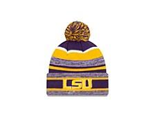 LSU Tigers Striped Marled Knit Hat
