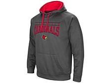 Louisville Cardinals Men's Poly Performance Hooded Sweatshirt