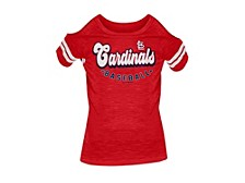 St. Louis Cardinals Youth Girls Cold Shoulder Top