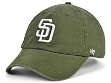 San Diego Padres Olive White CLEAN UP Cap