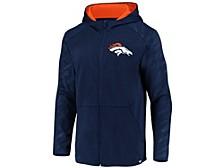 Denver Broncos Men's Embossed Defender Full Zip Hoodie