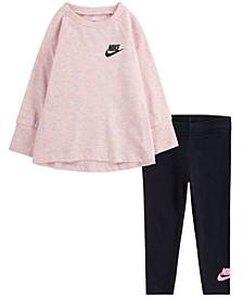 Baby Girls Tunic T-Shirt and Leggings Set