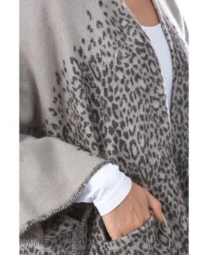 Women's Leopard Pocket Ruana