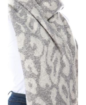Women's Leopard Fringe Scarf