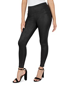 Petite Coated Pull-On Leggings