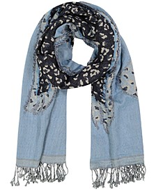 Echo Animal Fringe Oblong Scarf